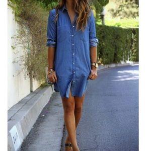 Dresses - Denim shirt dress